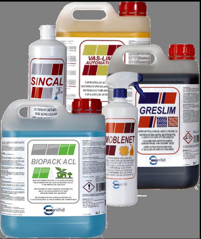 Variedad de envases Bionitid
