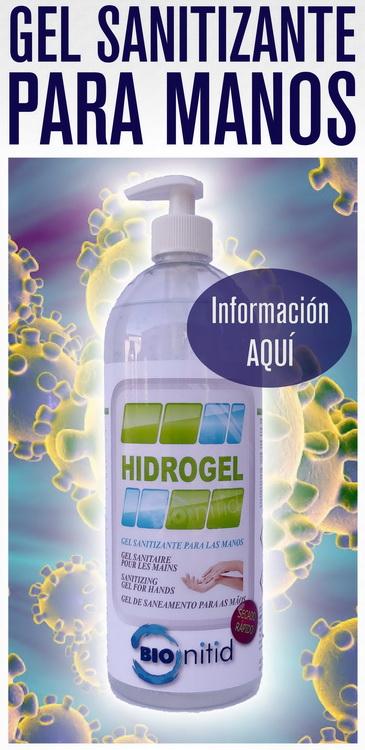 Gel désinfectant bionitide, Hygiétage, Hydroalcoholic, idéal pour le coronavirus covid-19