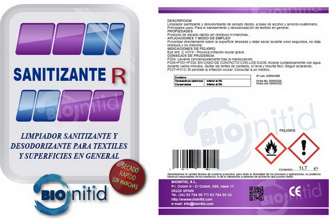 Sanitizer-R Bionitid, suitable to combat coronavirus